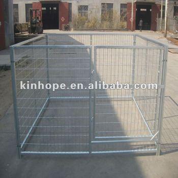 small heavy duty galvanized steel dog kennel