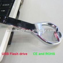new hot USB metal Corkscrew shape usb flash drive memory disk for promotion