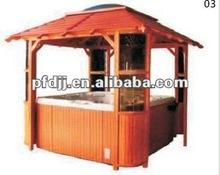 O popular PVC de madeira ao ar livre tendas gazebo