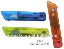 Hot selling colorful Plastic sliding blade knife