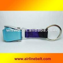 Fashionable light purple color Airline buckle key chains