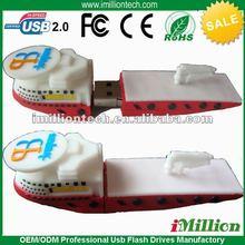 Promo custom logistics 3d shape boat,vessel,ship shaped usb flash drives