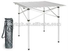 Foldable aluminum camping table