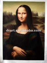 Famous Woman Oil Painting Of Mona Lisa's Smile