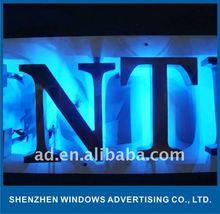 fine laser cut polished finish stainless steel reception backlit led channel letter sign