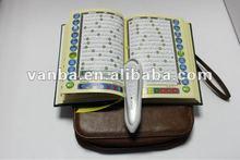 leather bag,best quality muslim multilingual quran reading pen va8900 with qaida noorania,digital al-quran pen reader from vanba