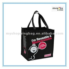 Black fabric Eco Friendly Shopping Bag For Promotion