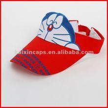 100% Cotton Sun Visor Cap with the lovely Doraemon head