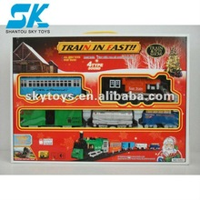 2012 Hot!Electric Wholesale Model. Train with Railway,Music&Light&smoking