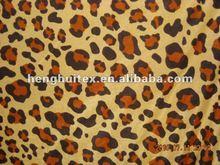 CHEAP FDY 150d/96f leopard skin printed polar Fleece fabric