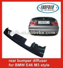 auto carbon rear bumper diffuser for BMW E46-M3