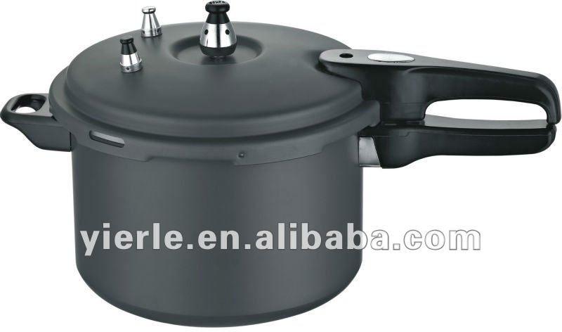 Hard-anodized pressure cooker