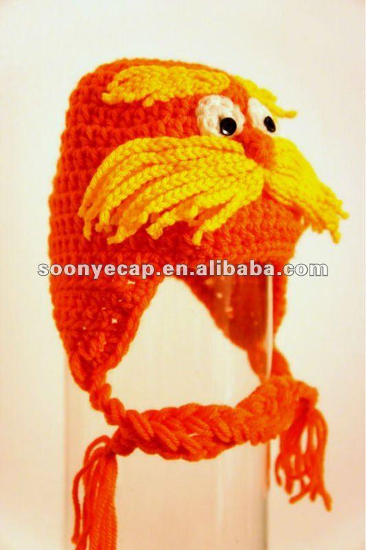 Lorax Animal Crochet Hat - Buy Crochet Hat,Lorax Crochet ...