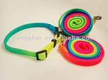 hot sale colorful middle nylon pet leash
