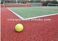 Tennis court rubber surfaces
