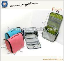 2012 fashion cosmetic bag, nylon cosmetic case, hand bag