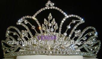 Wholesale fashionable pageant alloy crown/ tiara