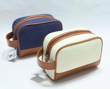 2013 latest design high quality fashion canvas toilet bag