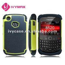 2 pieces protective hard case for blackberry curve 8520 triple defender