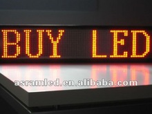 Advertising running/scrolling/moving text/message led display module many colors---red,green,amber,white,pink,blue