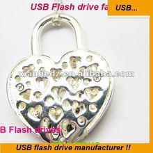 Diamond Heart shape usb flash drive larger factory offer