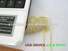 2012 gift heart shape jewellery flash card