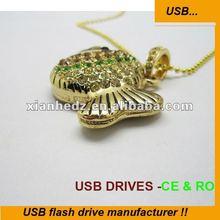 colorful Fish Fashion Design Bling 8GB promotional usb flash drive wholesale