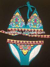 2012 girl's boho bikini stock