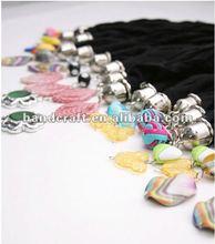 2012 fashion alloy pandents jewelry scarf/shawl
