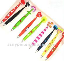 Promotional colorful soft pvc gel pen rubber ballpoint pen