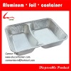 two compartmental airline aluminium foil containers