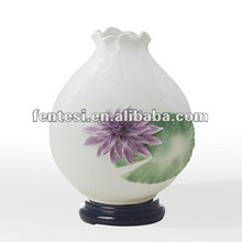 handmade purple lotus ceramic vase