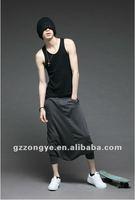 Men fashion riding breeches mid calf length pants