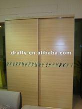 Modern wooden white beech two sliding door wardrobe