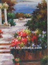 Romantic Garden Scenery Oil Painting
