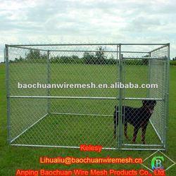 Hot dip galvanized steel wire chain link dog cage