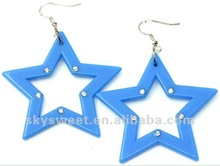 2012 hotsell basketball wives earring,leather arcylic earring,designer cut jewelry(SWTZTE002-7)