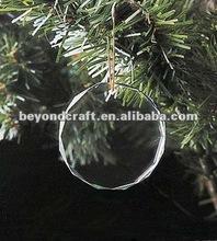 cut crystal blank hanging ornaments,glass ornaments