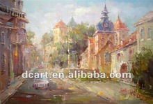 Oil Painting Building On Canvas Impressionist