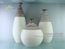 Artist Indoor Decorative Hand-Maded Porcelain Vase Set