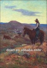 Modern Impressionist Cowboy Portrait Oil Painting