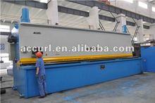 Guilhotina hidráulica QC11Y plástico cortador, Voltar medidor de controlador, Folha de mão máquinas de metal