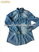 2012 Newest Style Fashion Lady Denim Shirts