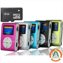 Cheapest Mp3 support TF card with clip Mp3 player