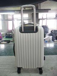 ABS+PC 3 pcs set eminent aircraft airplane wheel hard shell drawbar factory 2 zipper travelmate lady women female suitcase
