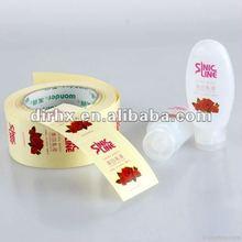 2012 hot!!! printable cosmetic bottle label design