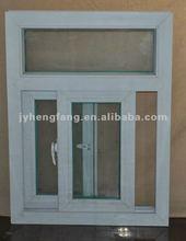 PVC sliding glass window with mosquito mesh,pvc windows