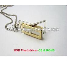 Chrismas gifts diamond necklace usb pen drive wholesale