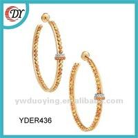 Fashion Gold Earrings New Model 2012 Wholesale
