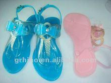 women plastic shoes summer ladies flat sandals 2013